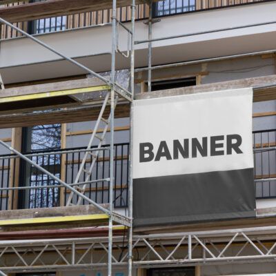Printed,Banner,On,The,Scaffolding